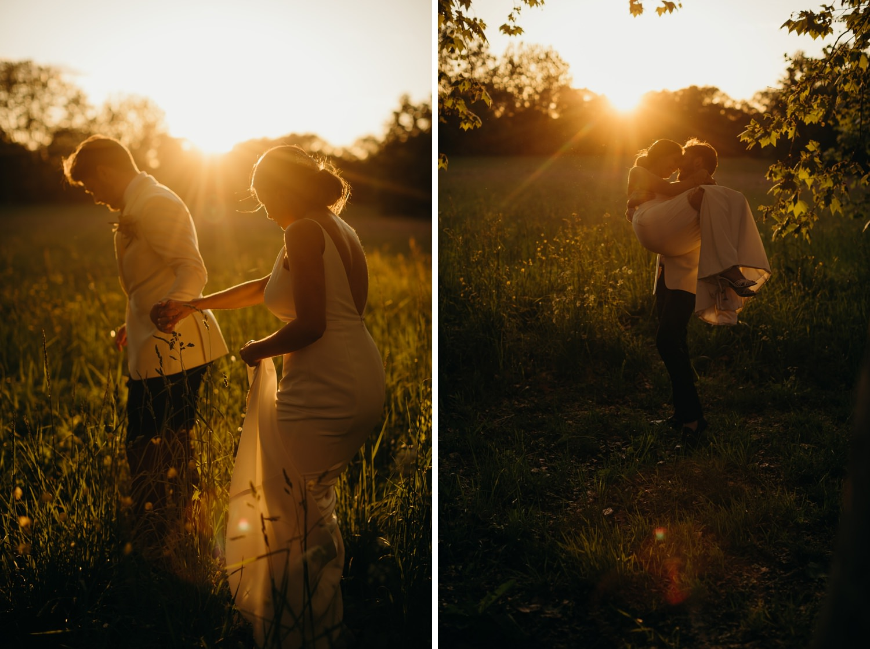 sunset at France wedding