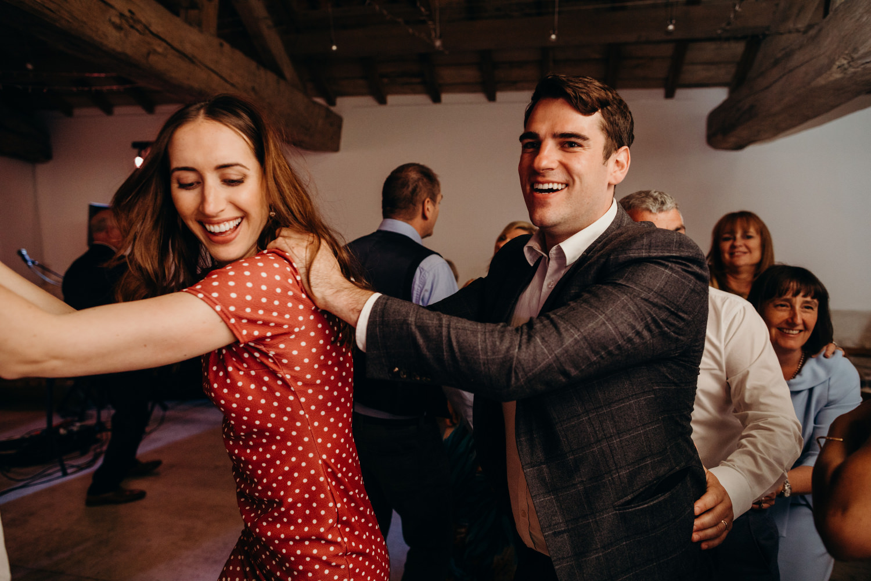 the train dance at wedding