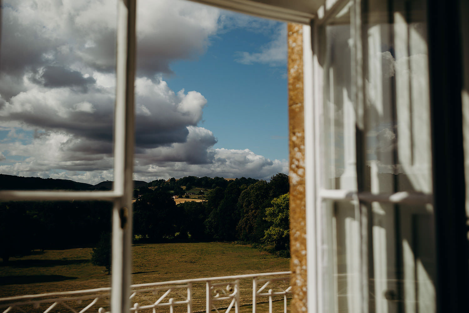 view from Somerset country house