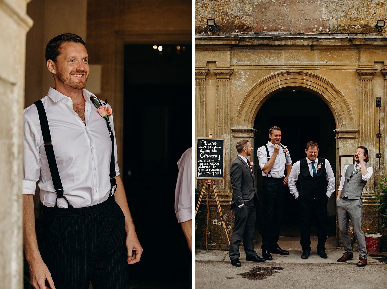 No tie groom wedding style