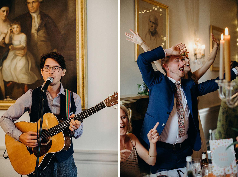 singalong at wedding