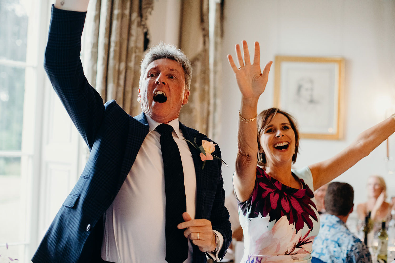 Singing at wedding reception