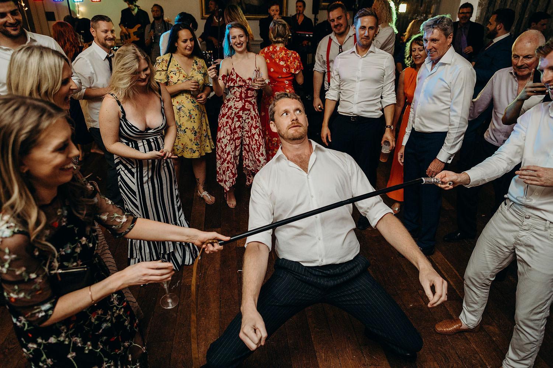 fun on wedding dance floor