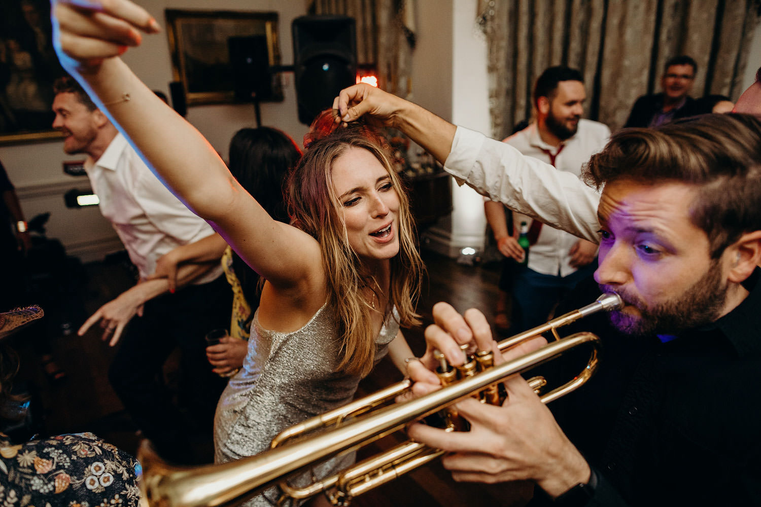 Brass band at wedding party