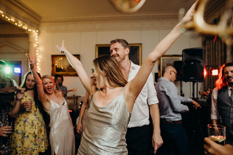 Bride dances at wedding