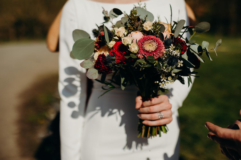 Lily Buff wedding bouquet