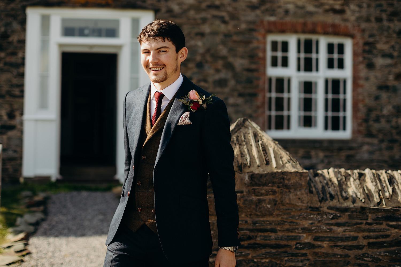 groom smiling