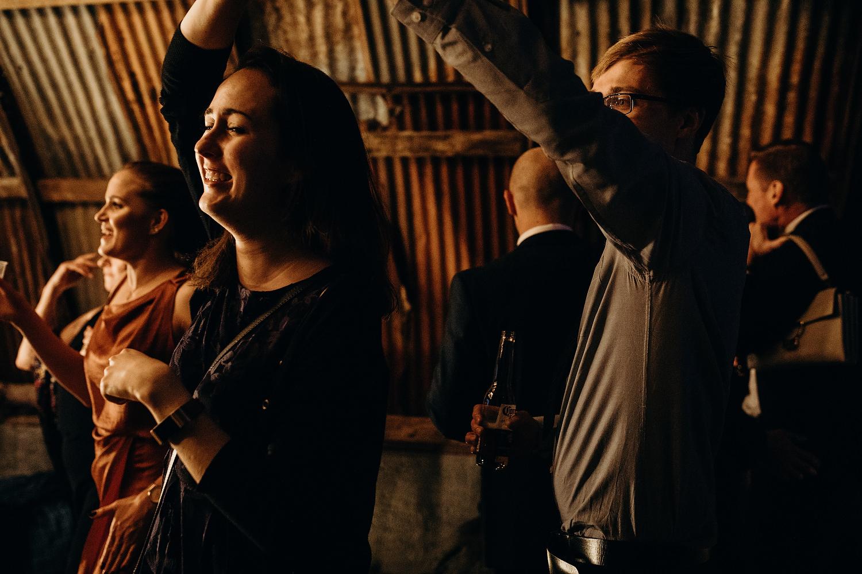 dancing in wedding hut