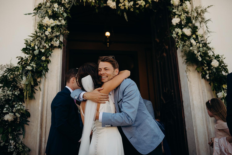 groom congratulating bride