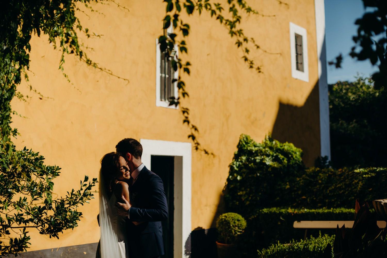 Portrait at portugal vineyard wedding