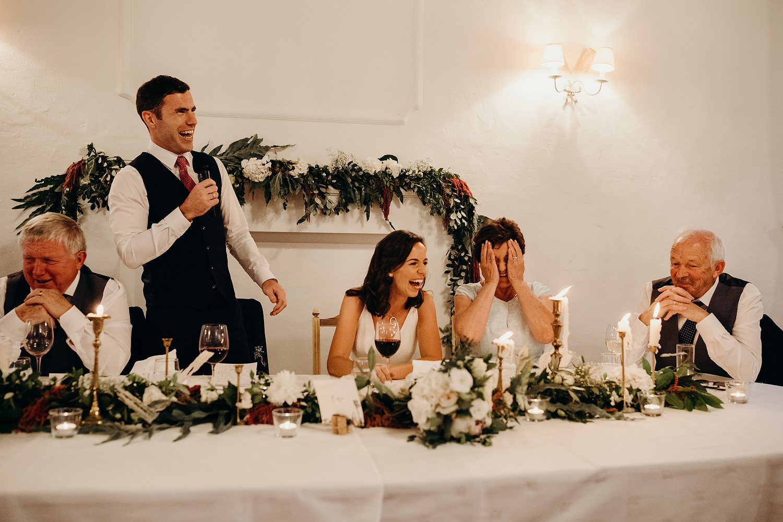 wedding speeches at Quinta de Sant'Ana