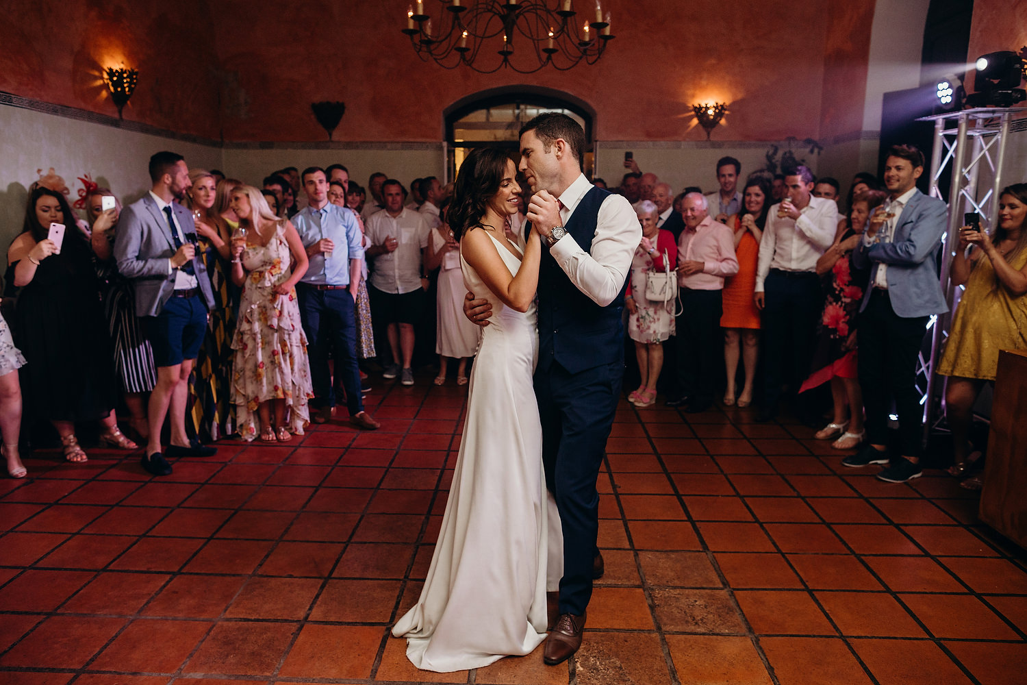 first dance in the olive press room