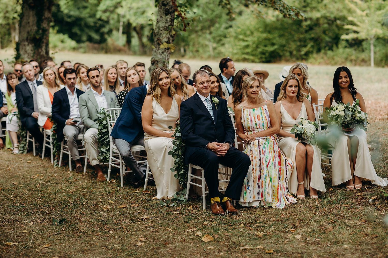 wedding guests outdoor ceremony
