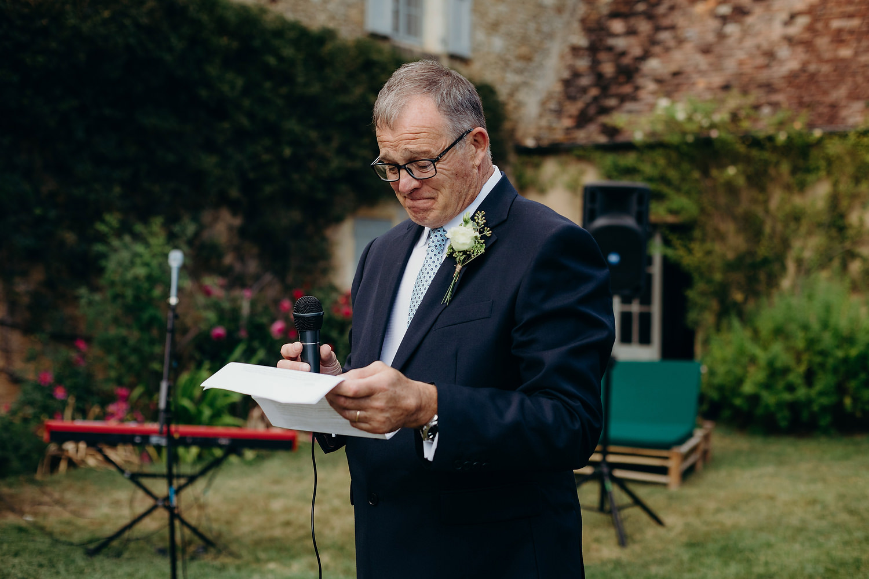 father of bride starts speech
