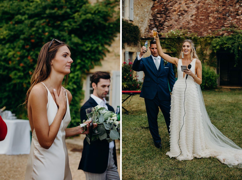 Bride wedding speech