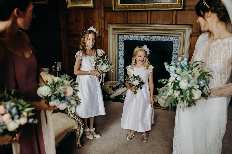 Flower girls at Gloucestershire wedding