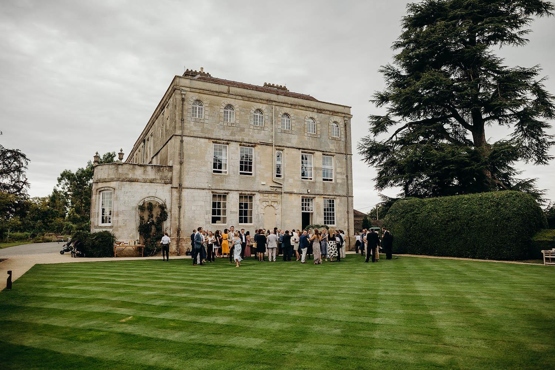Lawn wedding reception