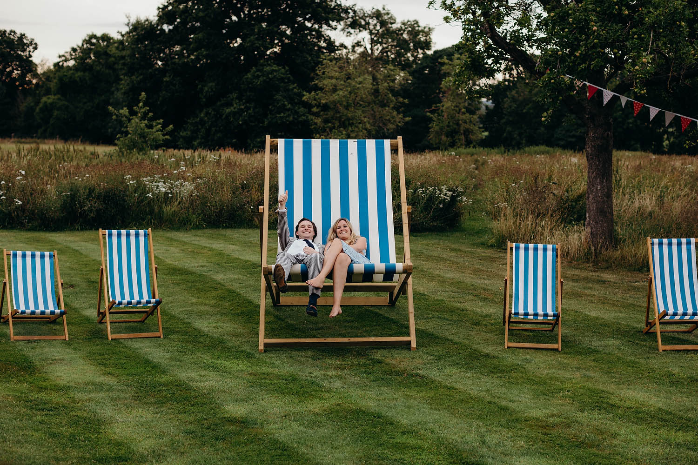 giant deckchair wedding