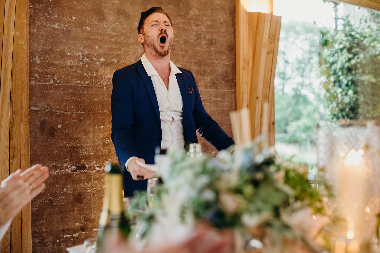 groom speech at Elmore court wedding