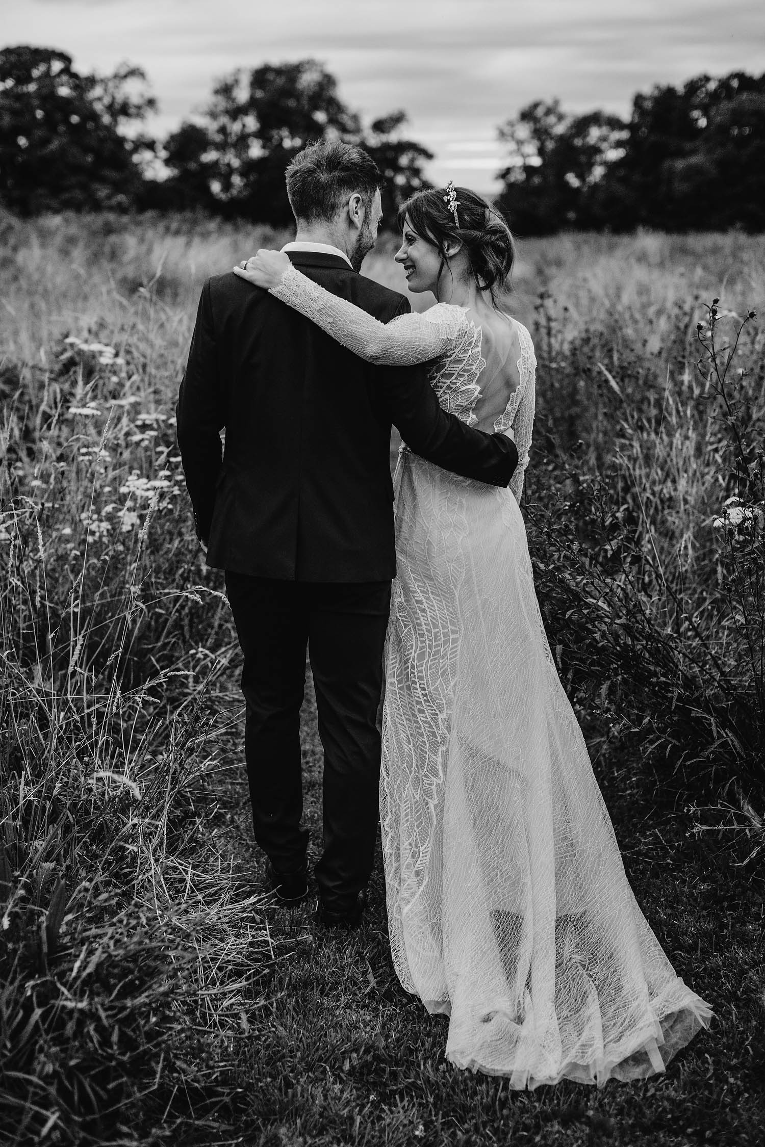 bride and groom portraits at Elmore court