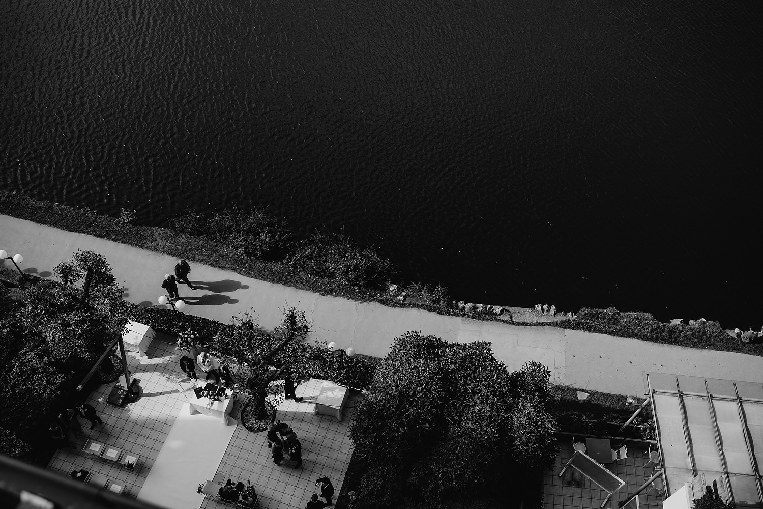 Outdoor ceremony on shores of Lake Bled