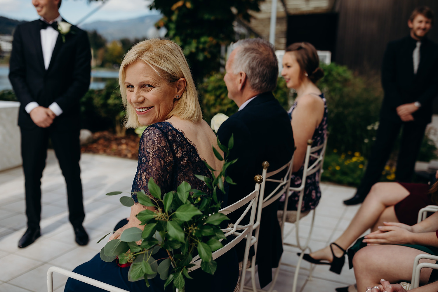 mother of groom smiling