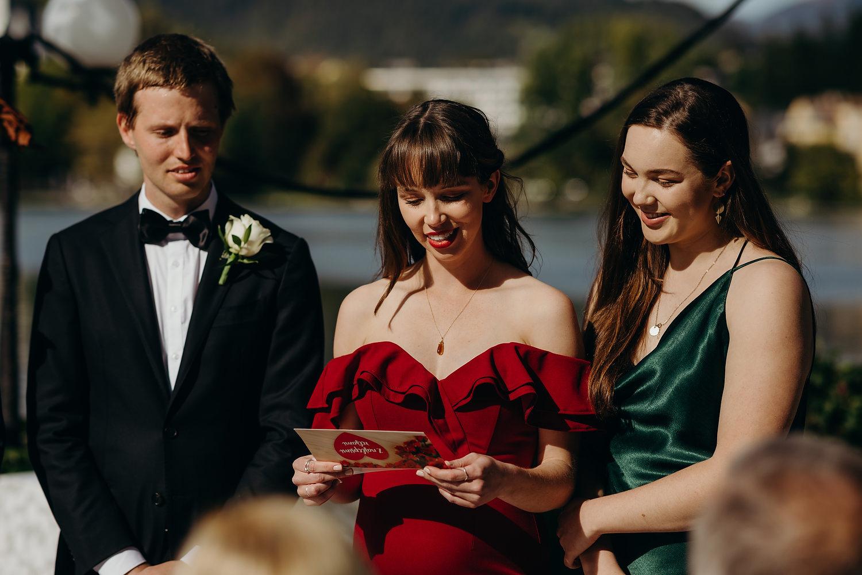 Readings at Slovenia wedding