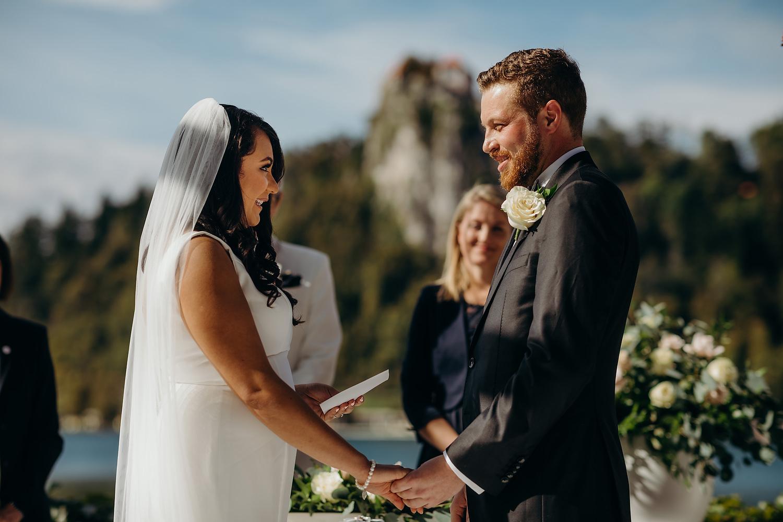 Lake Bled Wedding ceremony