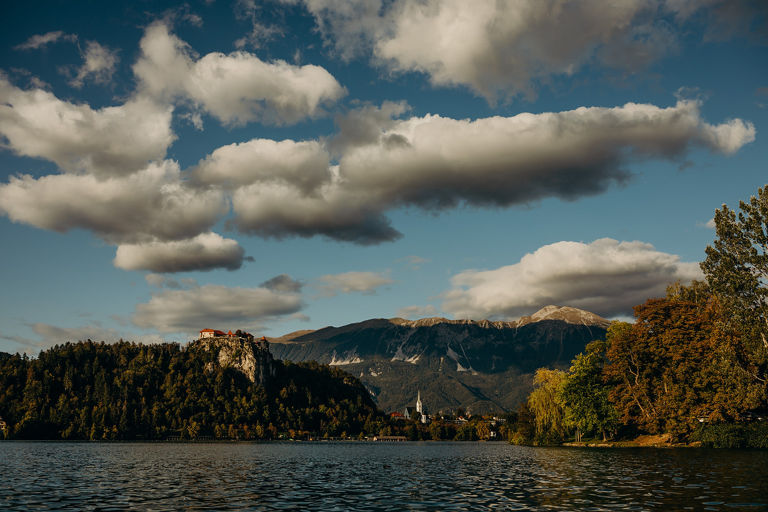 A dramatic view of Bled castle