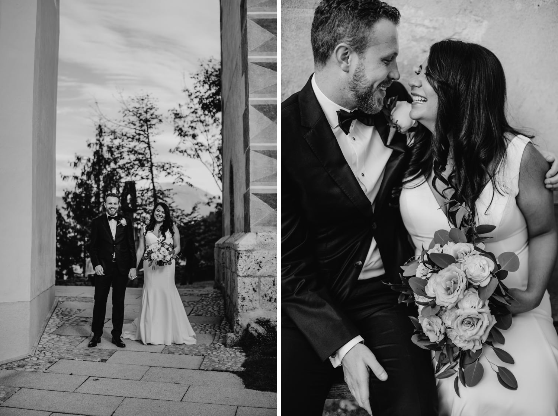 wedding portraits at Slovenia wedding