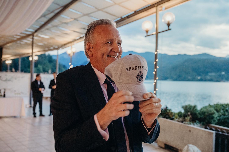 groom speech at Lake Bled wedding