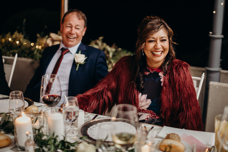 smiling guests at slovenian wedding