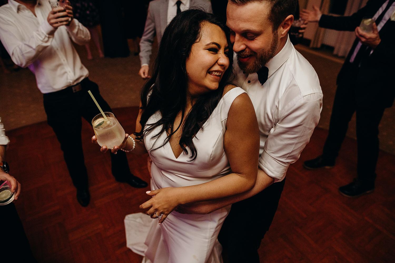 Couple dance at wedding