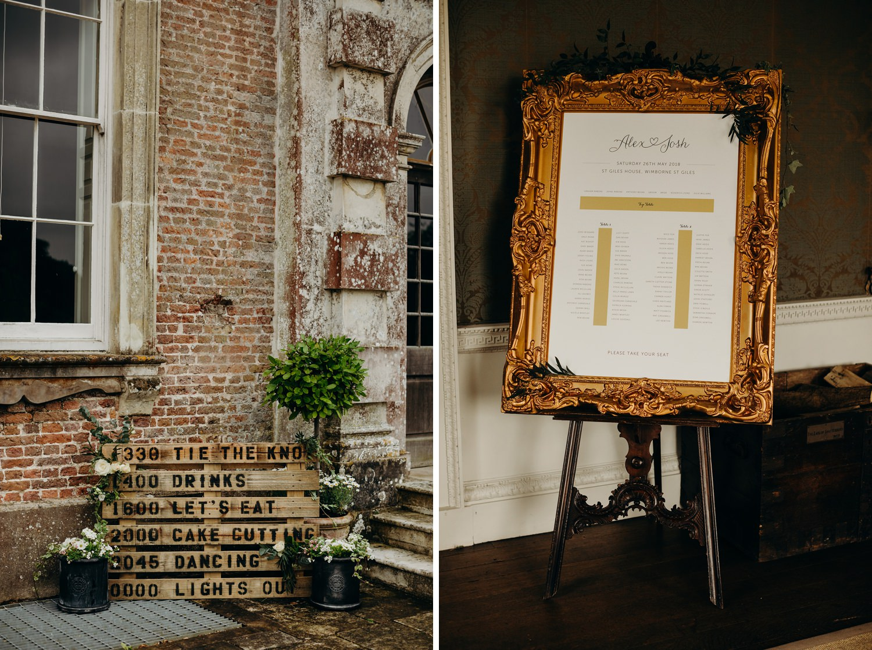 St Giles House Wedding Wimborne Dorset 004