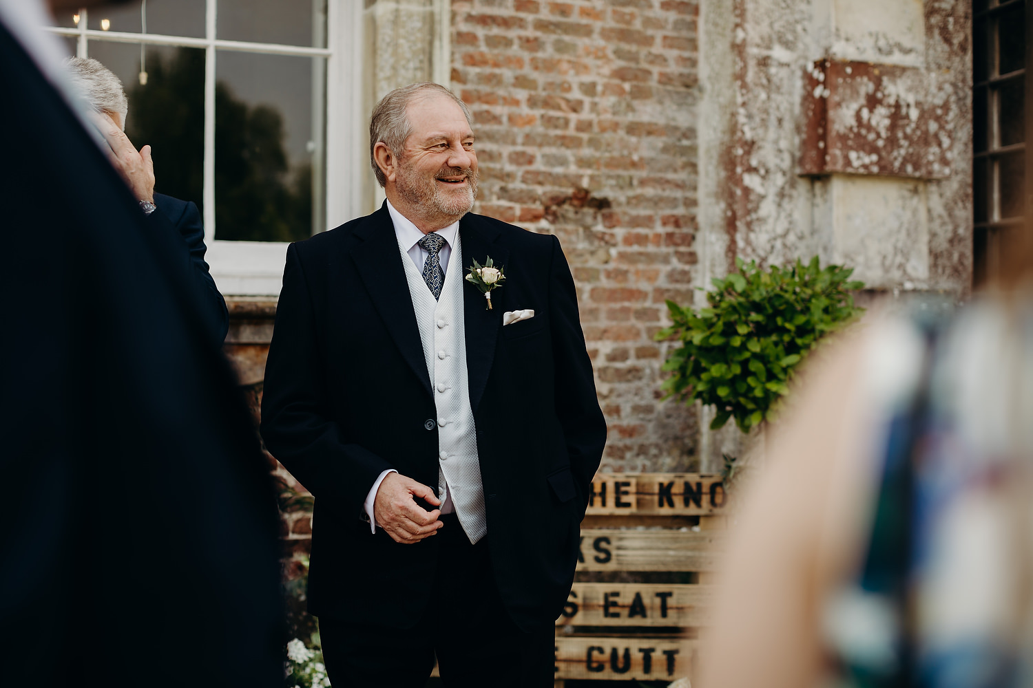 father of bride before ceremony