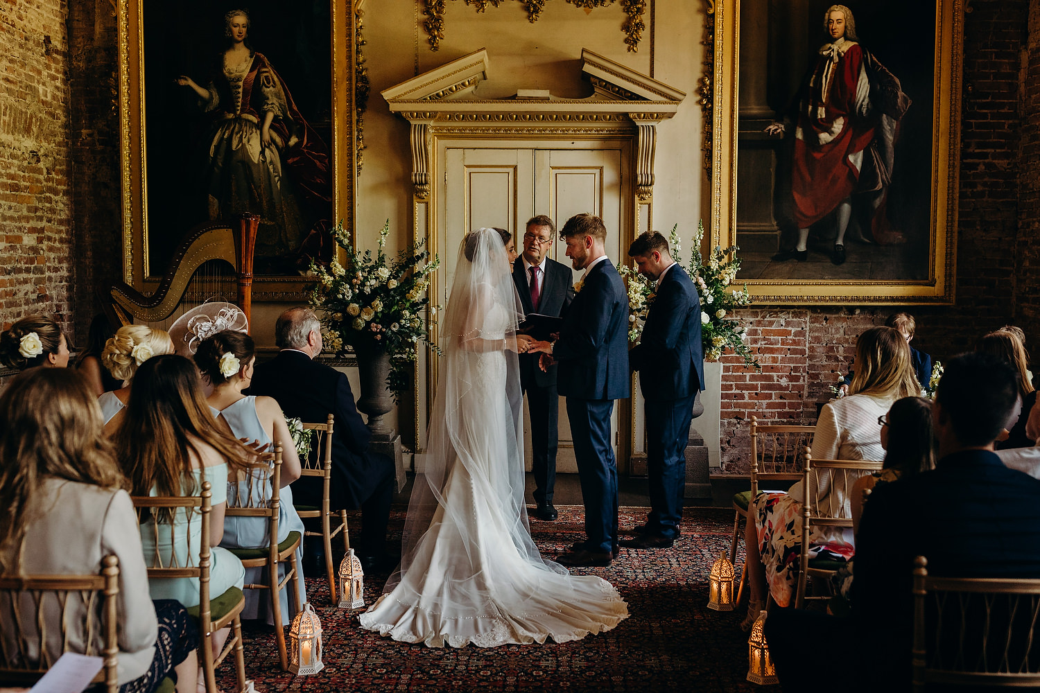 Wedding in room at St Giles House