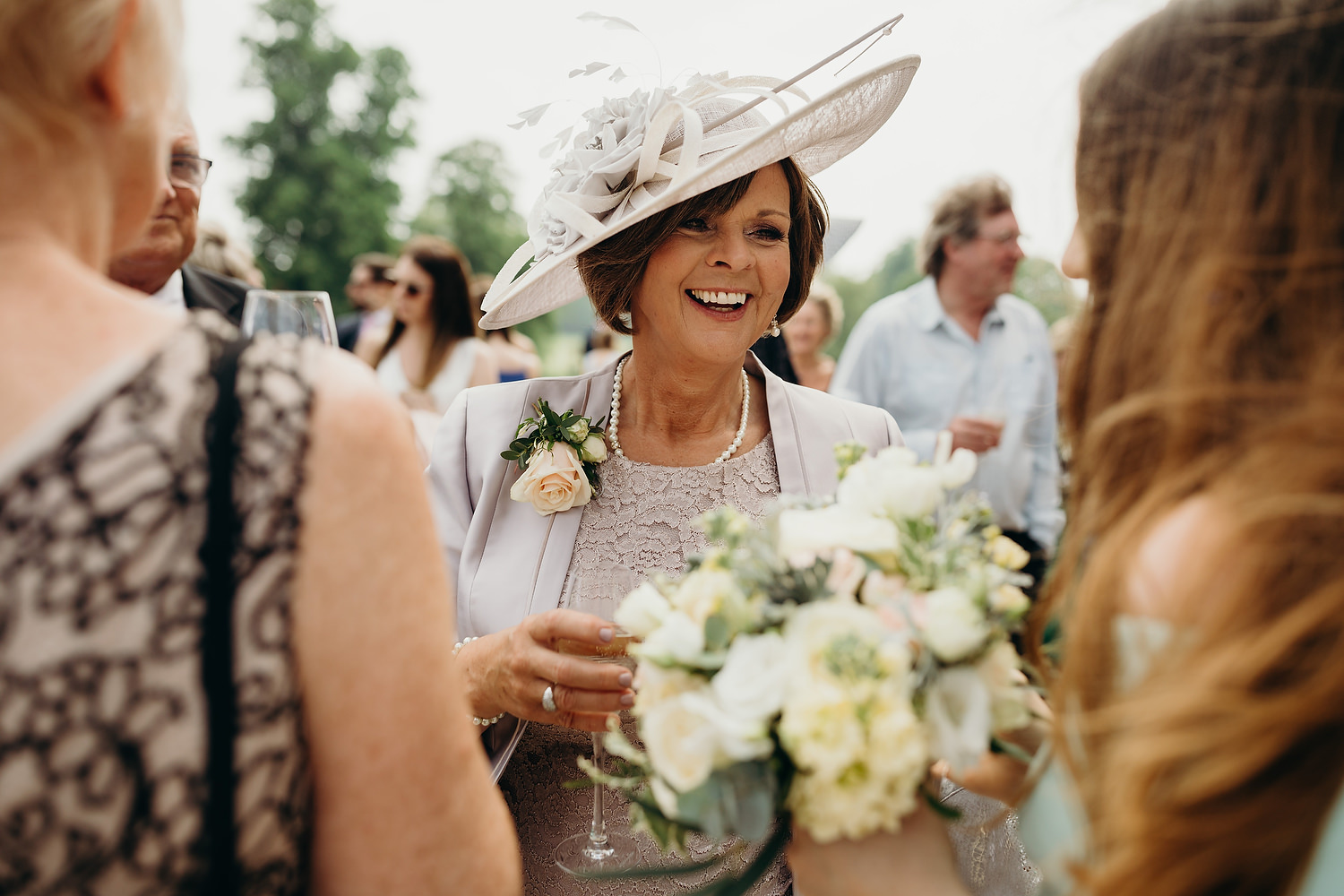 mother of bride smiling
