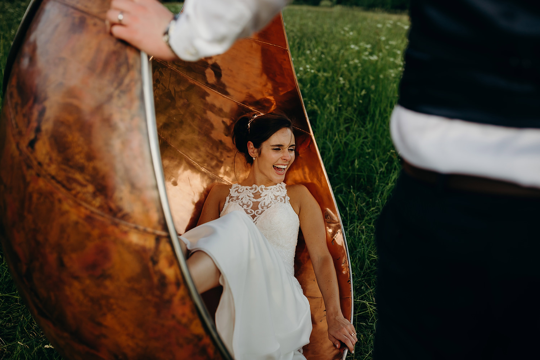 bride in giant swing