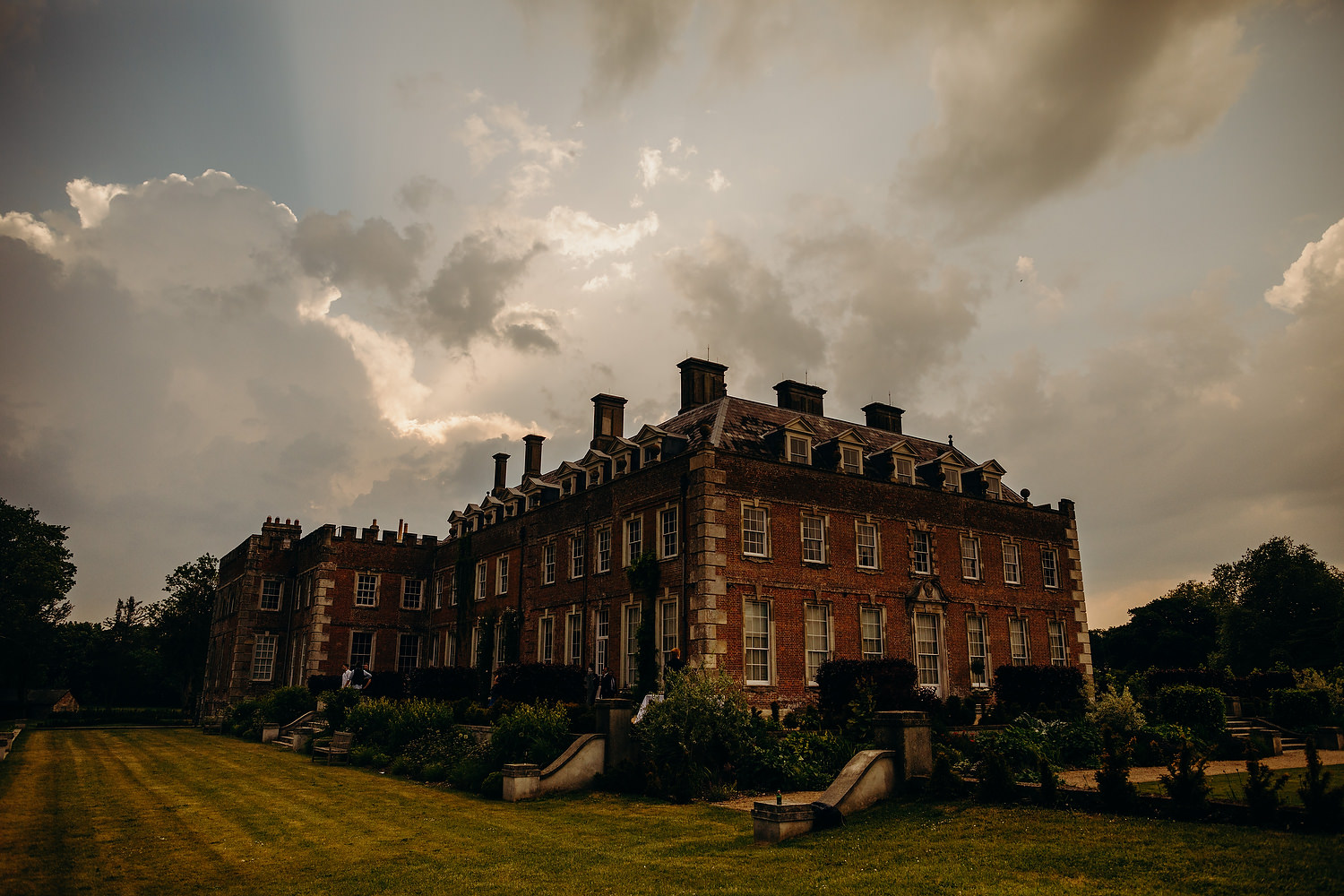 St Giles House at sunset