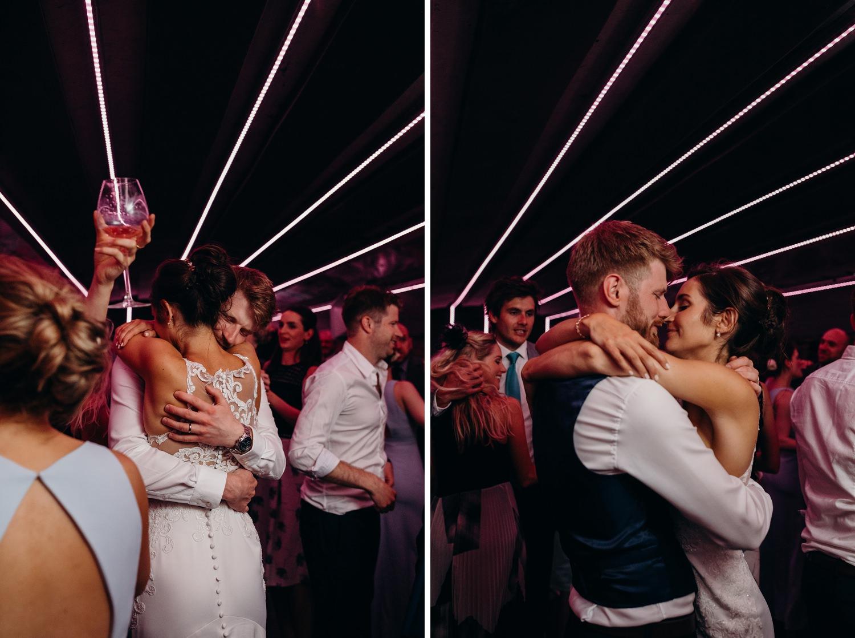 Bride & Groom hug during first dance