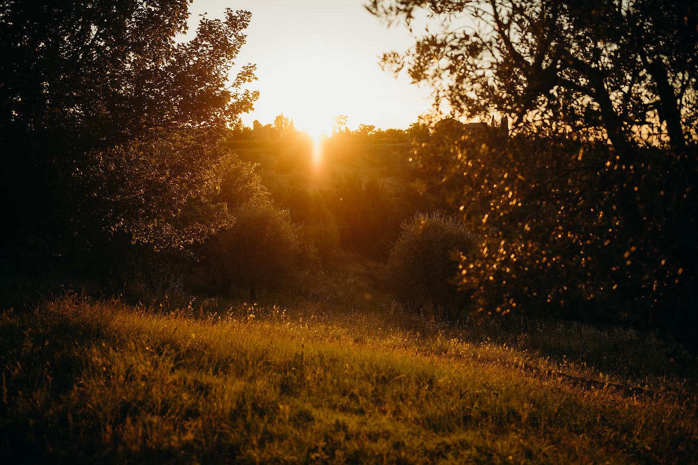 Sunrise at Tuscan Villa Wedding