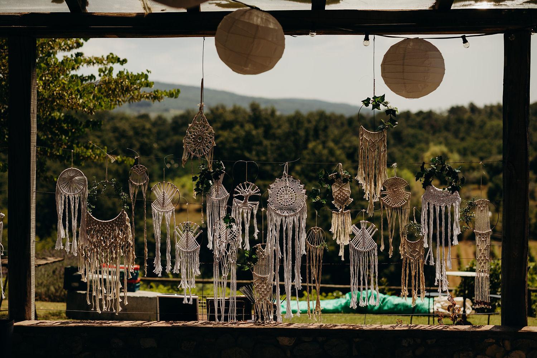 Handmade dreamcatchers for wedding