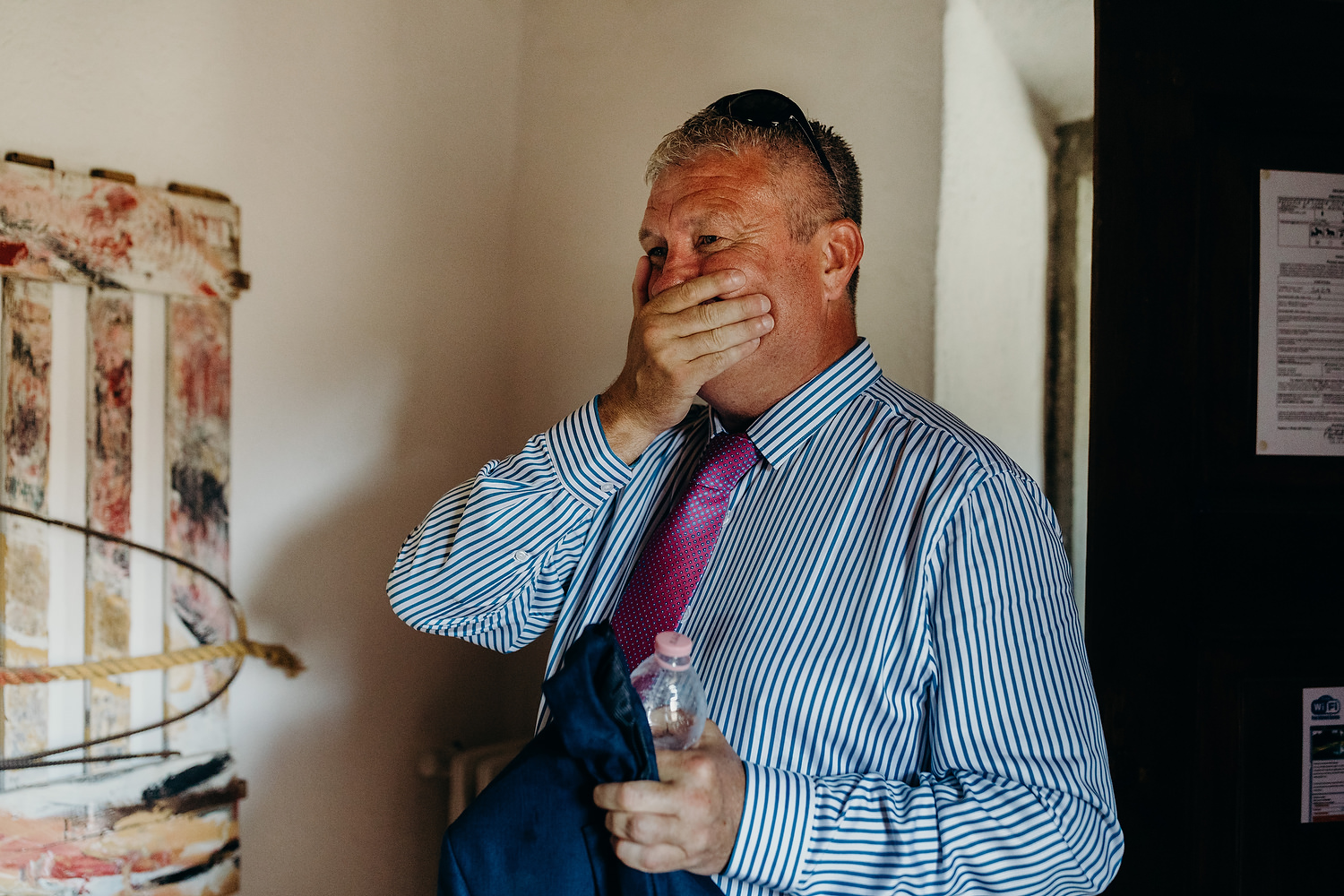 father of groom reaction to bride