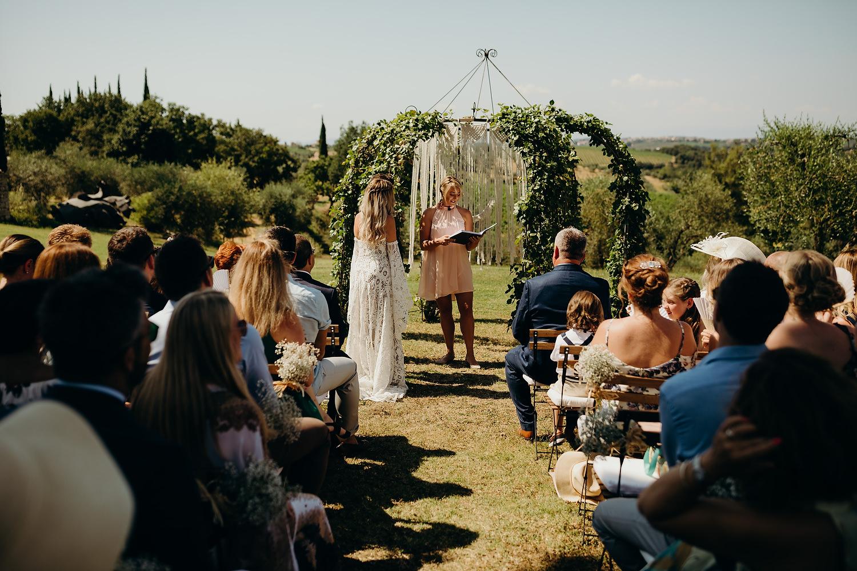 outdoor Italian wedding ceremony