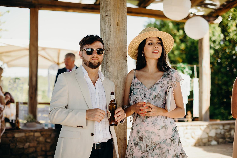 Guests at Tuscan villa Wedding