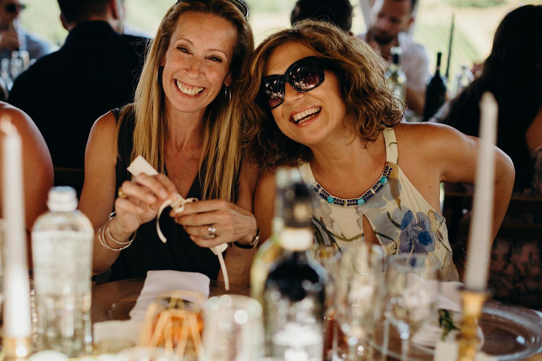 guests smiling at camera