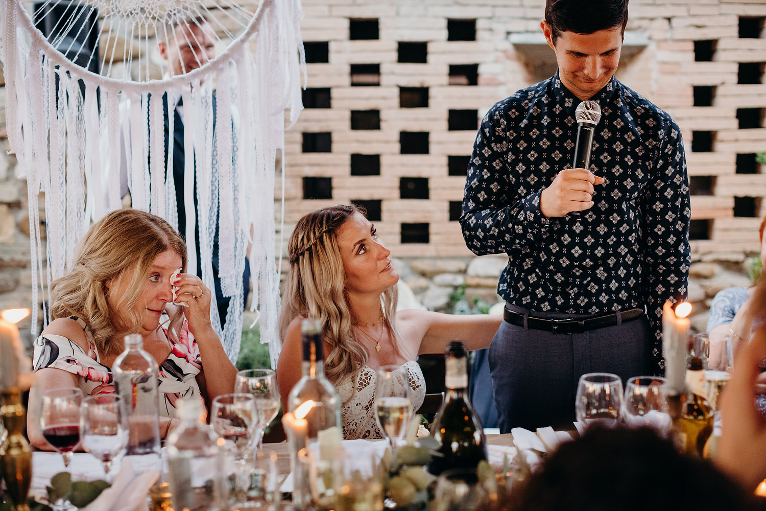 crying during groom speech