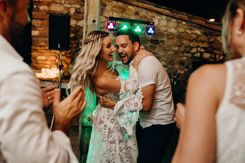 bride dances with guest