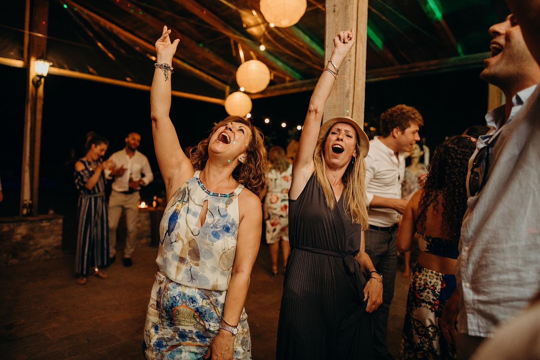dancing at Tuscany wedding